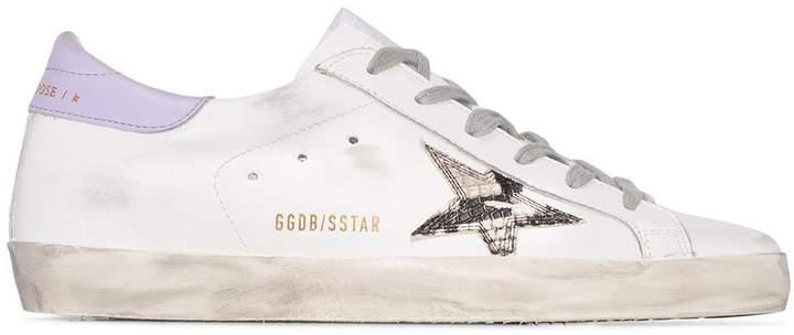 Golden Goose Superstar snake-print low-top sneakers