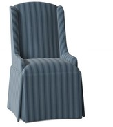 Doric Upholstered Wingback Arm Chair Red Barrel Studio Body Fabric: Skylar Antique Blue