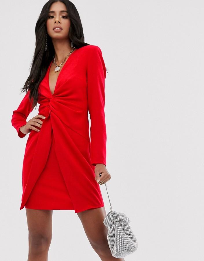 Asos Design ASOS DESIGN twist front mini dress