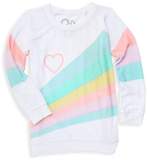 Chaser Little Girl's & Big Girl's Rainbow Sweater