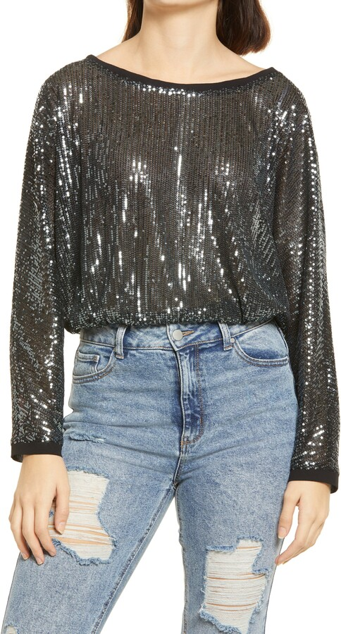 Lulus - Sequins of Events Sparkle Top
