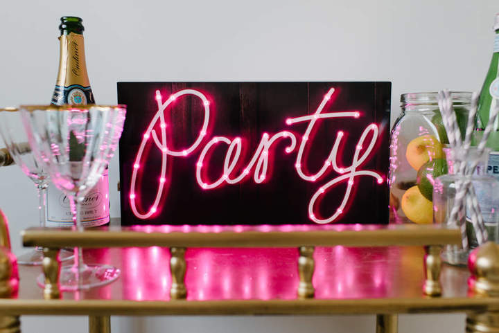 Magpie Decor Party Light Up LED Sign