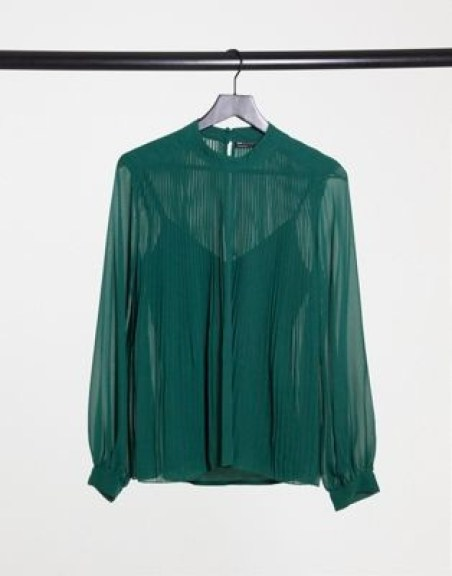 ASOS emerald chiffon blouse   hot Fall 2020 fashion
