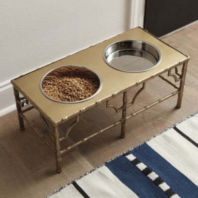 Bamboo Pet Food Stand