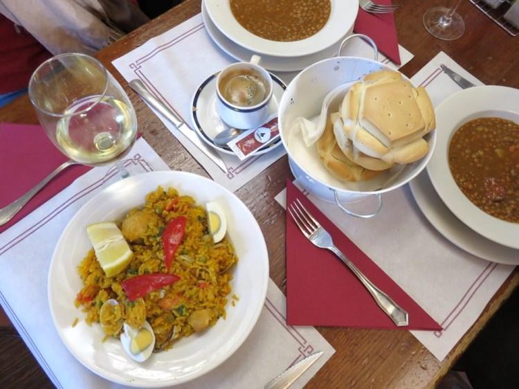 沙拉曼卡Meson Cervantes每日特餐第一道海鮮飯