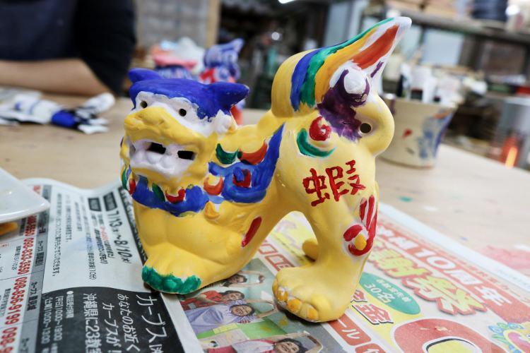 沖繩傳統手藝陶藝 素燒風獅爺著色體驗 親子同樂創意無限
