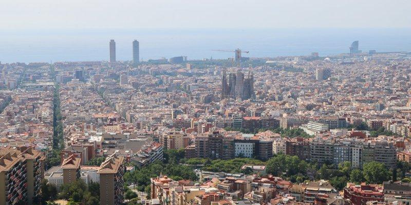 西班牙巴塞隆納卡梅爾碉堡360度觀景台市景夕陽日出最佳所在