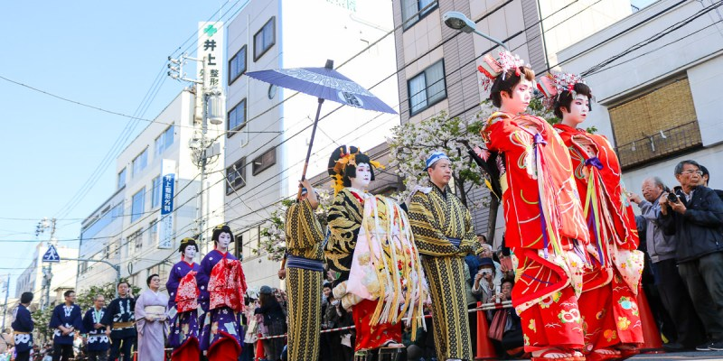 淺草祭典江戶吉原花魁遊街值得看,四月一葉櫻祭登場!