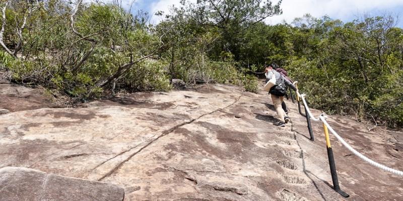 內湖金面山採石場大岩壁 路線飛簷走壁不回頭之Google地圖沒有的登山步道