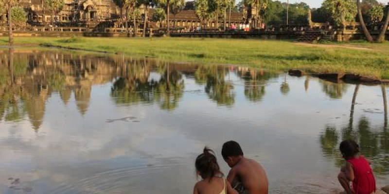 吳與倫比。柬埔寨。Angkor wat 吳哥窟 夕陽之美