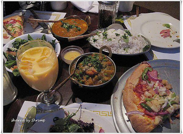 《美國加州》印度芒果咖哩雞配夏威夷披薩 Sam's Indian Restaurant Food