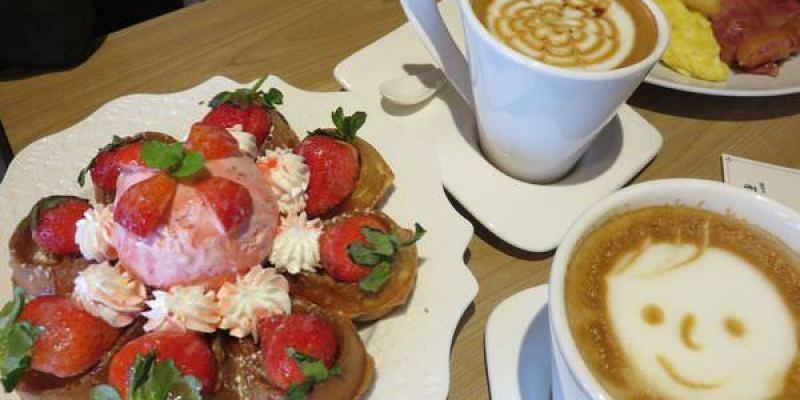 桃園。享巷咖啡。Enalley cafe。水滴狀鬆餅~吃得優雅不狼狽
