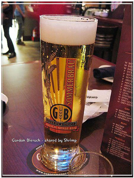 台北 Gordon Biersch 鮮釀啤酒餐廳。乾杯!
