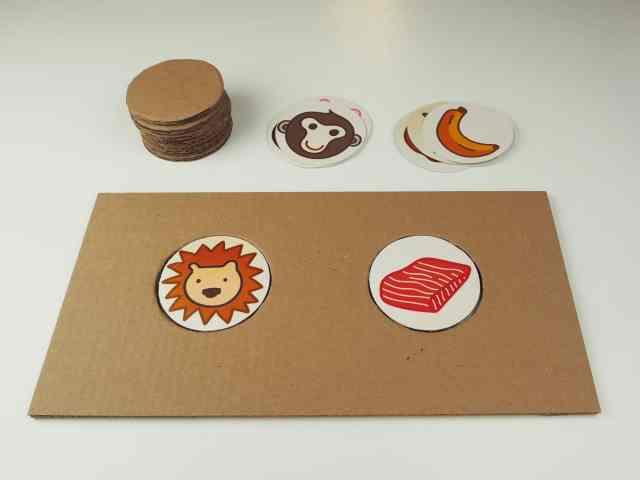 DIY自製紙箱玩具 紙箱圖卡配對遊戲 DIY Cardboard Matching Game