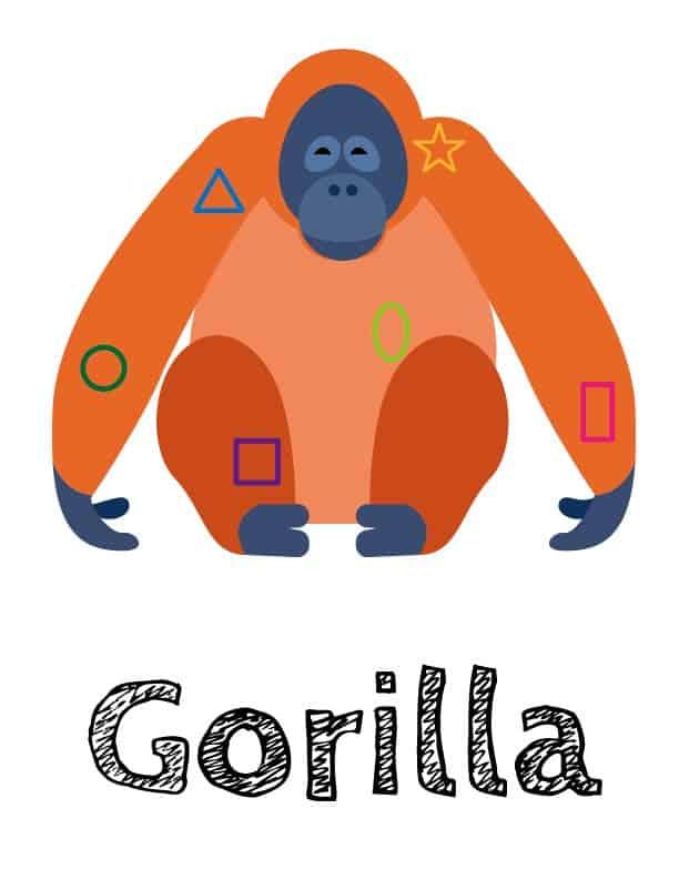 Gorilla 有英文名 大猩猩 OK繃向量圖