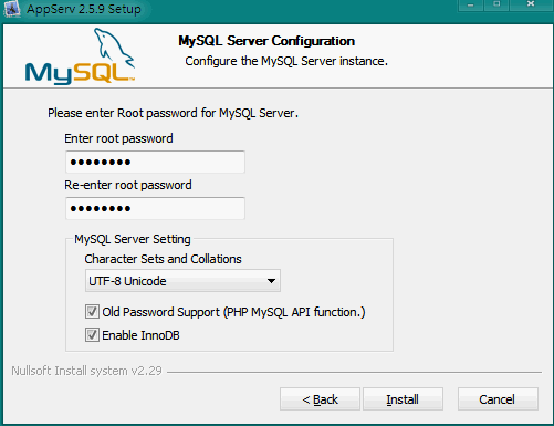 AppServ MySQL