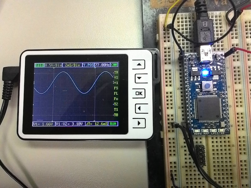 mbed AnalogOut sine-wave
