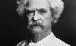 Mark Twain. Click image to expand.
