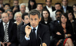 France's president Nicolas Sarkozy. Click image to expand.