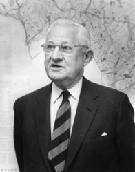 Harland Bartholomew, National Capitol Planning Commission. Photographed April, 1959, in Washington, D.C.