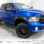 Used 2017 Ram 1500 Sport Lifted Crew Pneus 35 Blue 1 720 Km For Sale 54995 0 Grenier Chrysler Dodge Jeep 17 1719m