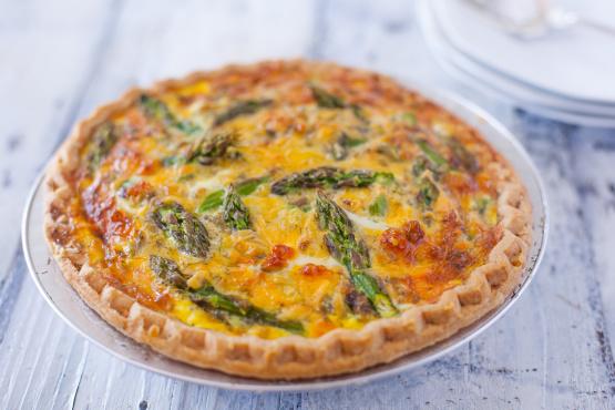 Asparagus Cheddar Quiche Recipe Genius Kitchen