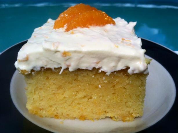 Incredibly Cool And Refreshing Mandarin Orange Cake Recipe