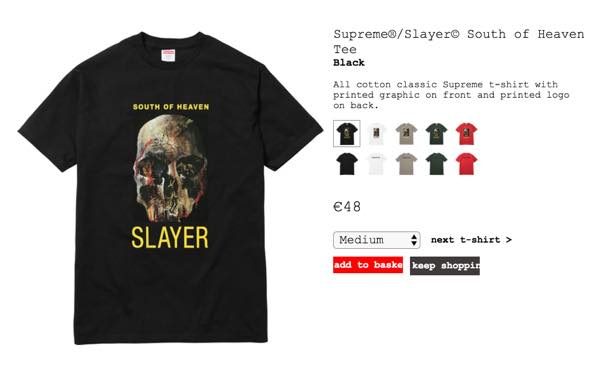 SUPREME x SLAYER