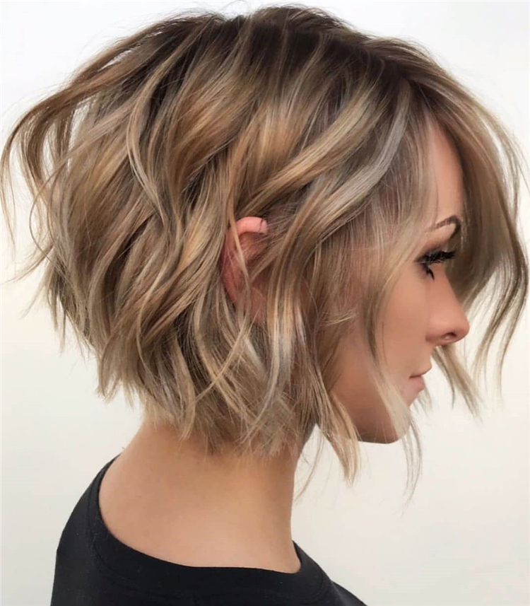 Here, 100 Latest Short haircuts and Hair Color Ideas.  Whether you're thinking of getting a sleek and sexy bob, a smart and chic pixie, Whether you choose to straighten, curl or even a natural choice that there's a perfect short hairstyles waiting for you. #HairColor #HairStyles