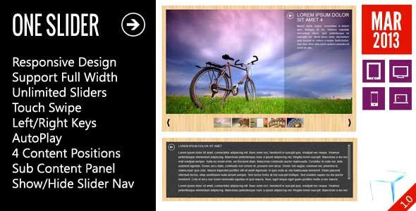 OneSlider - Responsive Slider With Interactive Content