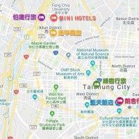 我的質感輕旅,自由優雅 ★ 台中設計酒店地圖(中區 西屯區 西區)