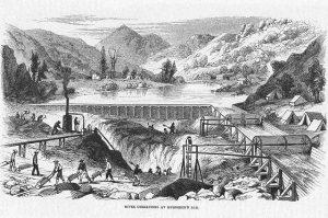 19世紀在加州一處河床淘金 (維基百科)