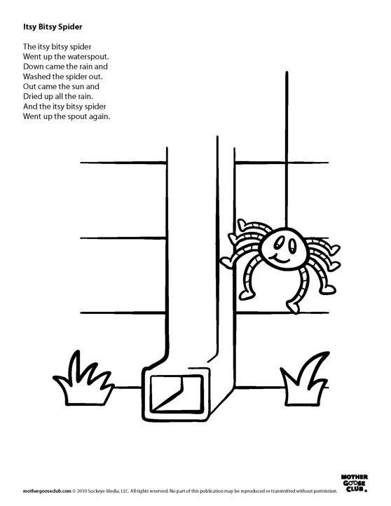 Coloring Pages For Itsy Bitsy Spider