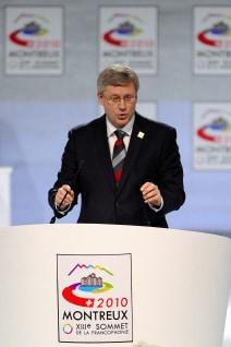 Stephen Harper au sommet de la Francophonie