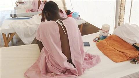 Un Haïtien hospitalisé
