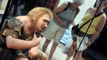 Représentation d'un homme de Néandertal