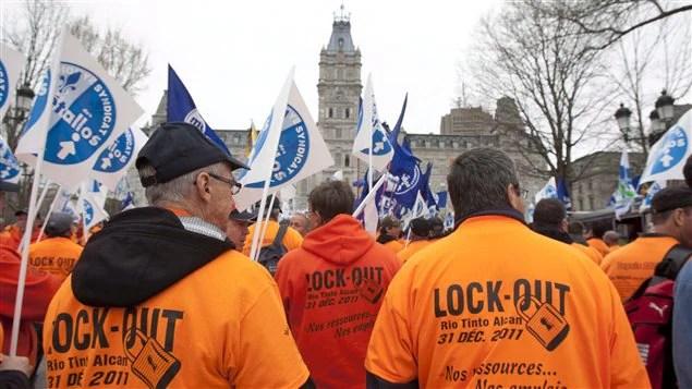 Lock-out chez Rio-Tinto Alma - Photo: Radio-Canada