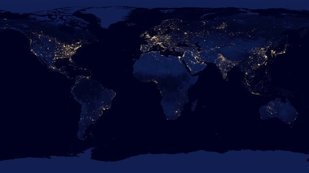La Terre durant la nuit