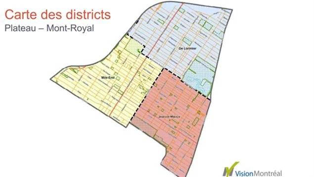 carte des districts