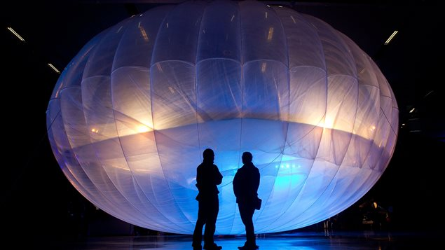 Un ballon conçu par Google pour diffuser un signal Internet sans fil dans les zones les plus reculées de la planète