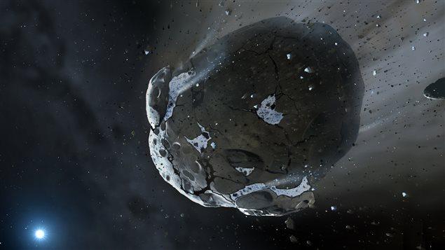 Représentation artistique de l'astéroïde