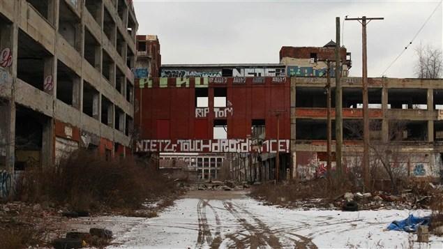 Des bâtiments abandonnés de Détroit