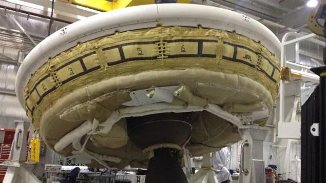 Le véhicule expérimental qui devait être lancé par la NASA.