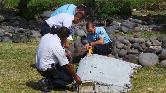 Le morceau d'aile retrouvé à la Réunion