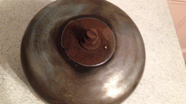 La cloche du Saturnus qui a été repêchée en 1944