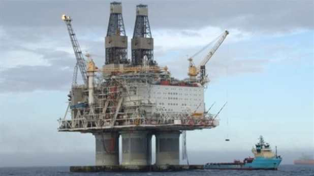 The Hibernia oil platform was anchored to the seabed in Newfoundland's offshore 19 years ago this week, and is scheduled to produce its one billionth barrel of oil in 2017