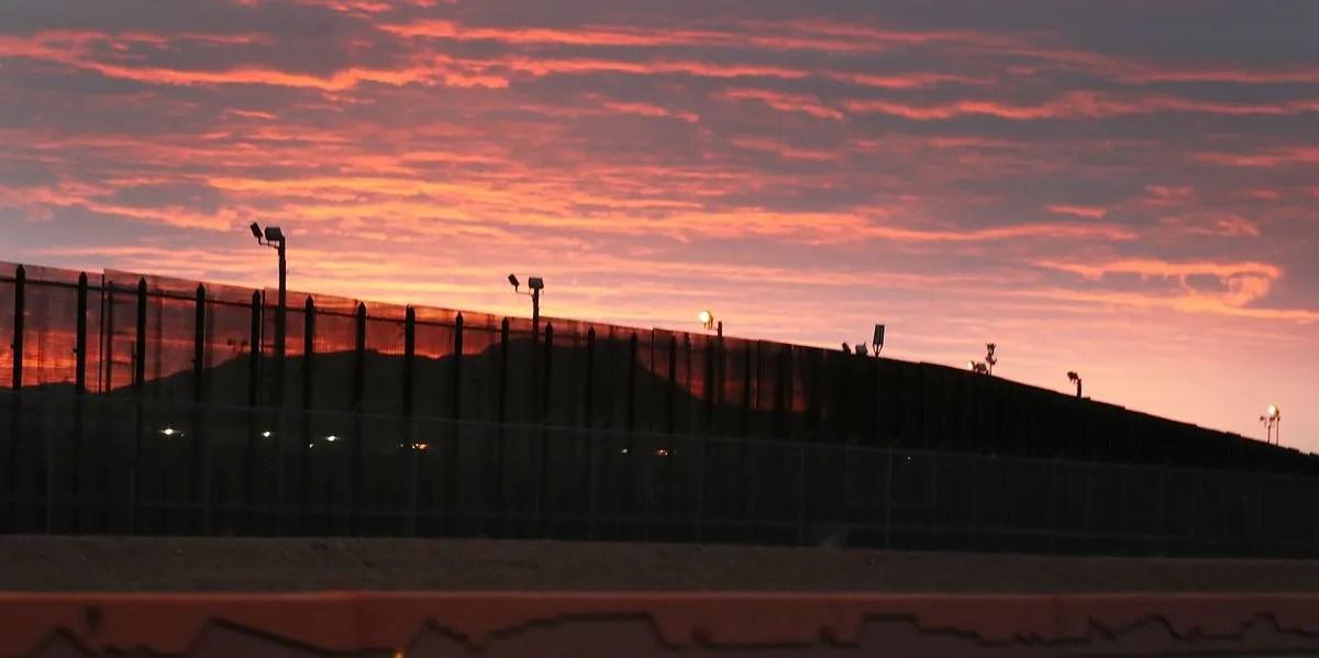 Wall on the U.S.-Mexico border.