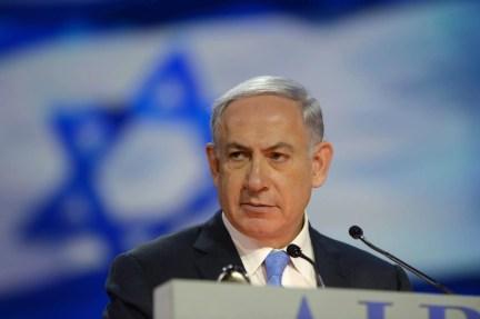 Israeli Prime Minister Benjamin Netanyahu speaks at an event.