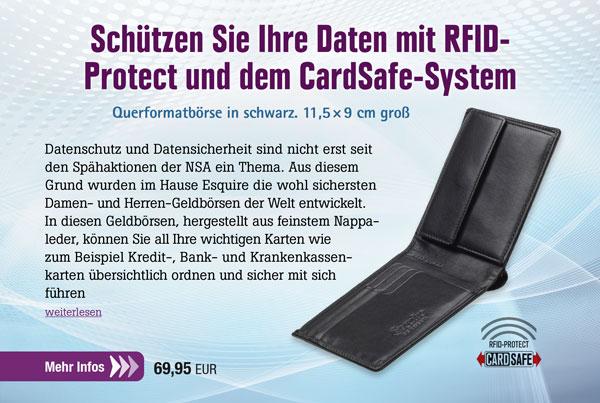 Esquire RFID Herren-Geldbörse Querformat 229549 00