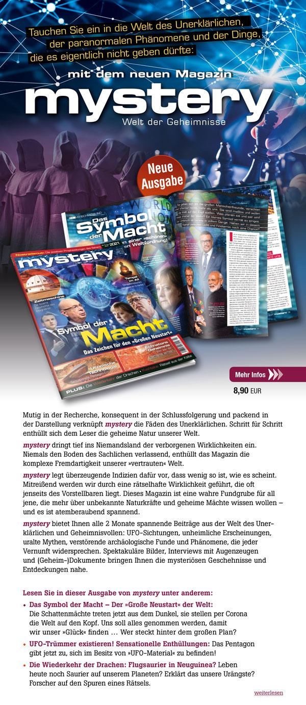 mystery Ausgabe Nr. 3 Mai/Juni 2021